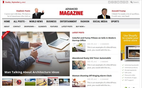 Advanced Magazine Theme   An Ads Ready WordPress Theme For Online Magazines    Ad Nets Review